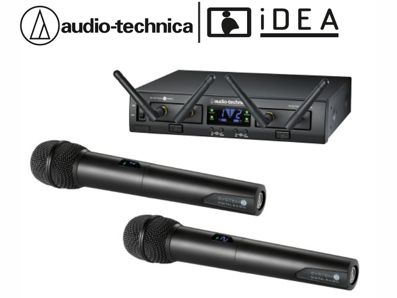 AUDIO TECHNICA ATW-1322 ÇİFT EL TELSİZ AUDIO TECHNICA MİKROFON
